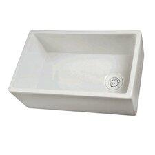 "29.75"" x 17.88"" Single Bowl Fire Clay Farmhouse Kitchen Sink"
