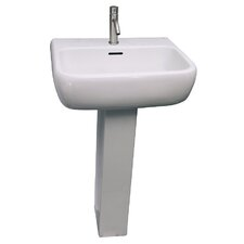 "Metropolitan 600 34"" Pedestal Lavatory Sink with Overflow"