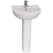 "17.34"" Pedestal Lavatory Sink"