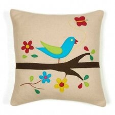 Singing Bird Wool Throw Pillow