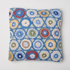 Coin Hooked Wool Throw Pillow