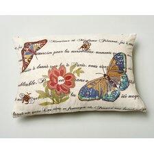 Marine Butterfly Wool Throw Pillow