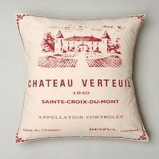 Chateau Verteau Linen Throw Pillow