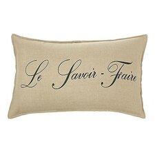 Le Savouir Faire Linen Lumbar Pillow