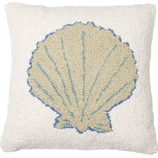 Sea Shell Wool Throw Pillow