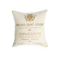 Chateau Saint Gerome Cotton Throw Pillow