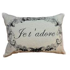 Je T 'Adore Linen Decorative Pillow