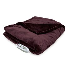 Silky Plush Electric Heated Throw