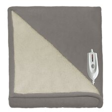 Sherpa Reversible Electric Heated Throw Blanket