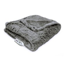 Faux Fur Reversible Electric Heated Throw