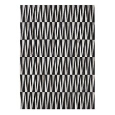 Opal Hand-Loomed Black Area Rug