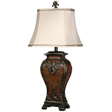 "Traditional 33.5"" H Table Lamp with Bell Shade"