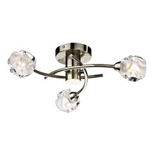 Seattle 3 Light Semi-Flush Ceiling Light