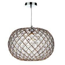 38cm Juanita Glass Oval Pendant Shade