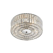 Crystal 4 Light Flush Ceiling Light