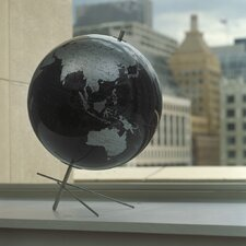 Mikado Slate Gray World Globe