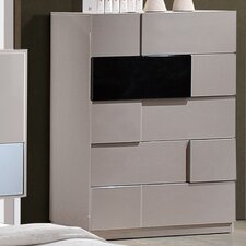 Bianca 5 Drawer Chest with Mirror