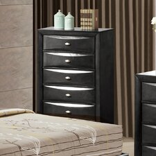 Linda 5 Drawer Chest with Mirror
