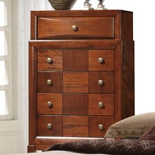Oasis 6 Drawer Chest with Mirror
