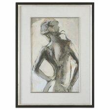 """""""Gesture Feminine"""" by Liz Jardine Framed Painting Print"""