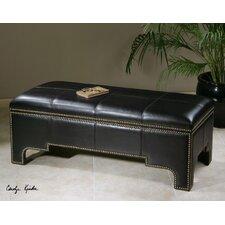 Onika Faux Leather Storage Bench