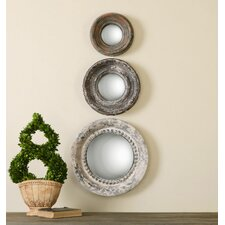 Adelfia 3 Piece Round Mirror Set