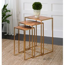 Copres 3 Piece Oxidized Nesting Table Set