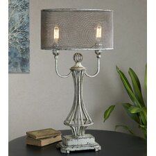 """Pontoise 33"""" H Table Lamp with Drum Shade"""