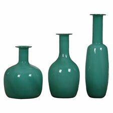 Baram 3 Piece Turquoise Vase Set