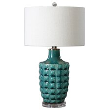 "Aguadilla 27.75"" H Table Lamp with Drum Shade"
