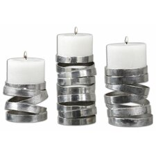 6 Piece Tamaki Metal Candlestick Set