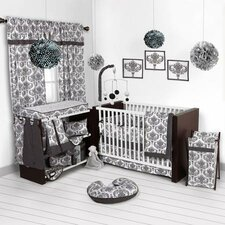 Classic Damask 10 Piece Crib Bedding Set