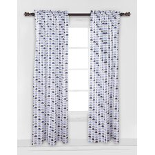 Mini Elephants Single Curtain Panel