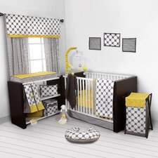 Dots/Pin Stripes 9 Piece Crib Bedding Set