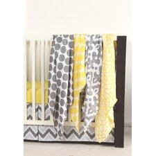 Ikat Dots/Giraffe 4 Piece Swaddling Muslin Blanket Set