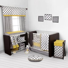 Dots/Pin Stripes 10 Piece Crib Bedding Set