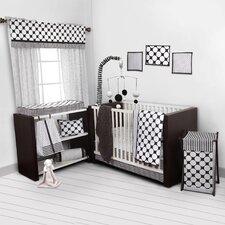 Dots/Pin Stripes 9 Piece Crib Bedding Set
