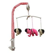 Elephants Pink & Beige Musical Mobile