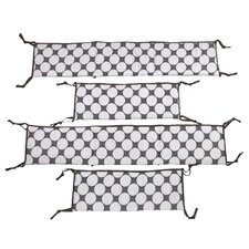 Dots/Pin Stripes 2 Piece Bumper Pad Set