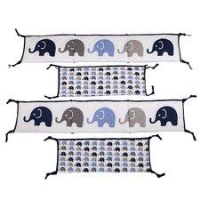 Elephants 2 Piece Bumper Pad Set