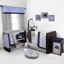 Elephants 9 Piece Crib Bedding Set