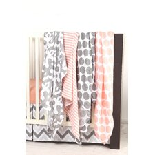 Ikat Dots/Stripes 6 Piece Crib Bedding Set