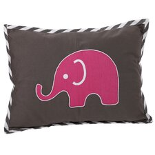 Elephants Decorative Cotton Boudoir/Breakfast Pillow