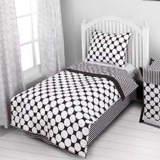 Dots/Pin Stripes 4 Piece Toddler Bedding Set