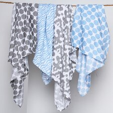 Ikat Dots/Zebra Muslin 2 Piece Security Blanket Set