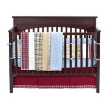 Stripes and Plaids 4 Piece Crib Bedding Set