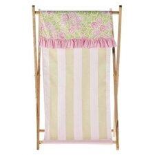 Flower Basket Hamper in Pink, Green and White