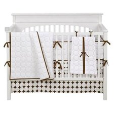 Quilted Circles 4 Piece Crib Bedding Set