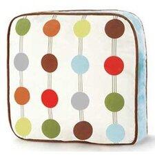 Mod Dots and Stripes Decorative Cotton Throw Pillow