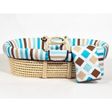 Mod Diamonds and Stripes Moses Basket